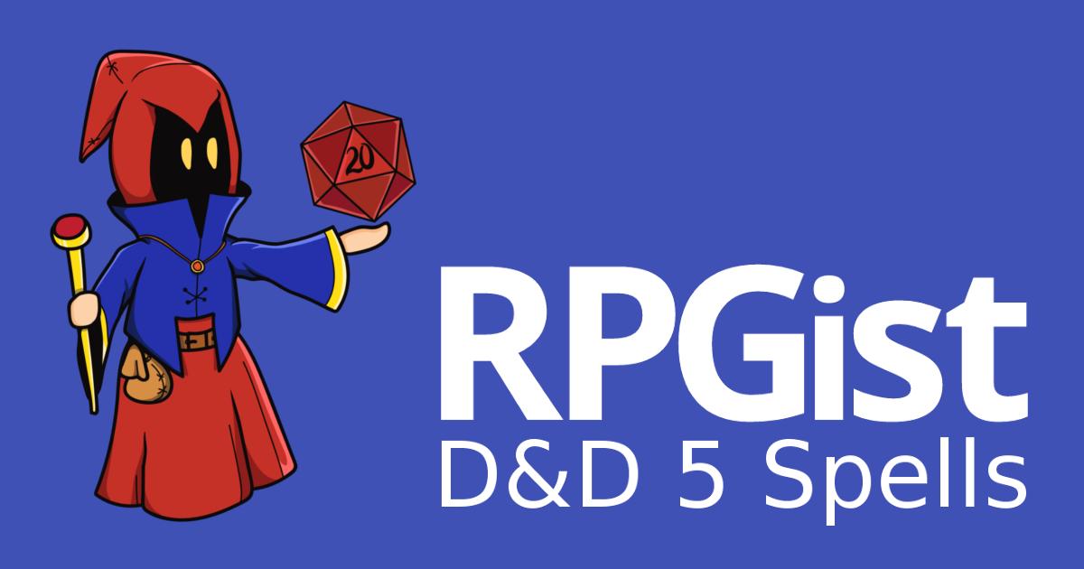 Spells | D&D 5e Spellcaster Helper | RPGist